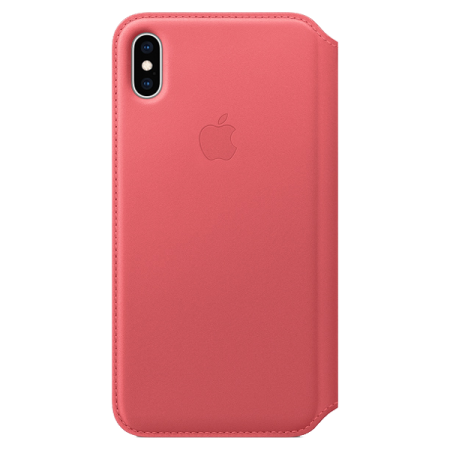 Apple iPhone XS Max Leather Folio Peony Pink