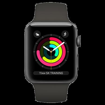 Apple Watch S3 GPS 38mm Space Grey- Black Sport Band