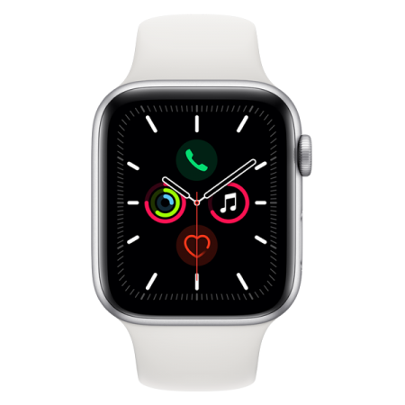 Apple Watch Series 5 GPS 40mm Silver White Sport Band