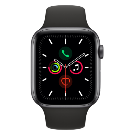 Apple Watch Series 5 GPS 44mm Space Grey Black Sport Band