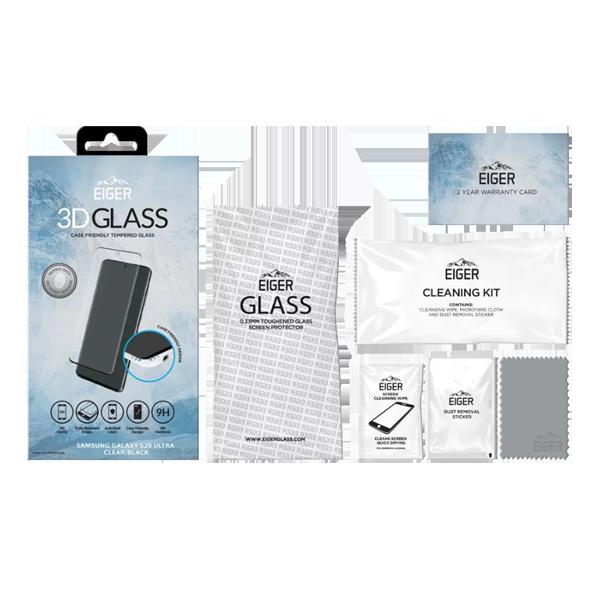 Eiger folie sticla 3D case friendly Galaxy S20 Ultra Black