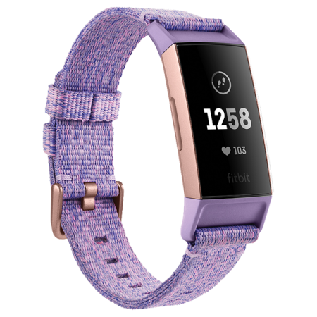 Fitbit Charge 3 SE Lavender - Woven