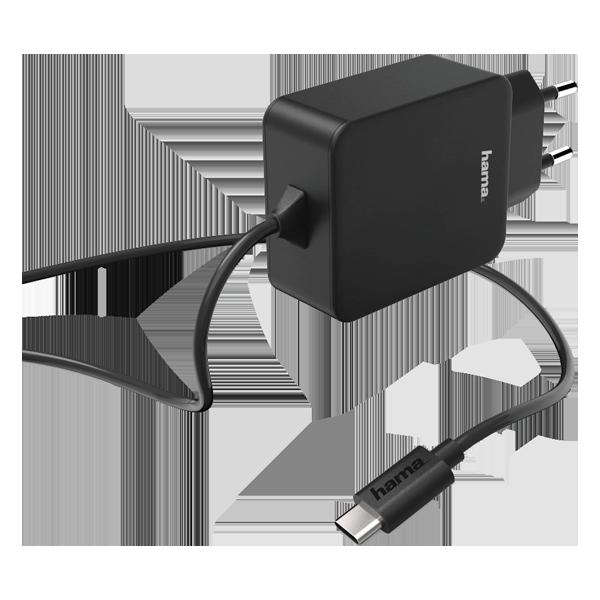 Hama incarcator priza USB Type-C 3 A Black