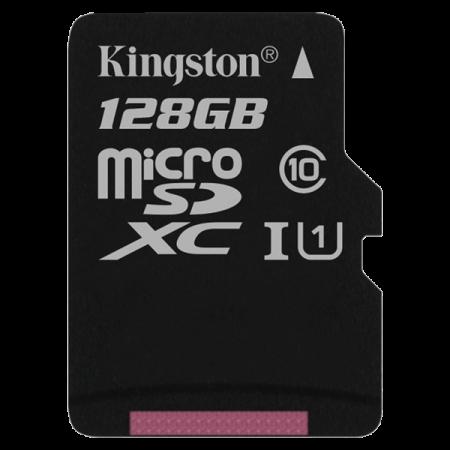 Kingston microSDXC SDCS 128GB CL10 cu SD adapter