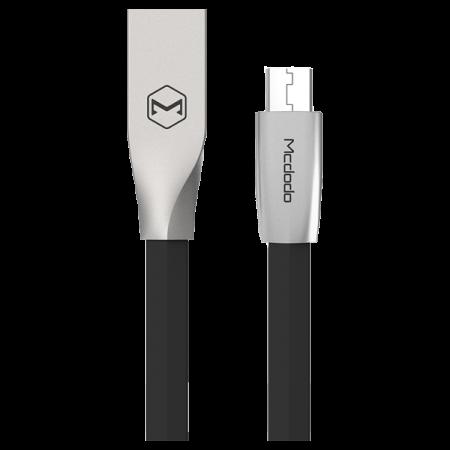 Mcdodo Cablu Zn-Link Silver MicroUSB 1.5m 2.4A max Black