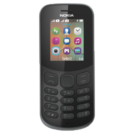 Nokia 130 2017 8MB Dual SIM Black