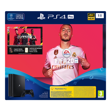 Consola PlayStation4 PRO 1TB PS Plus 14 zile FIFA20