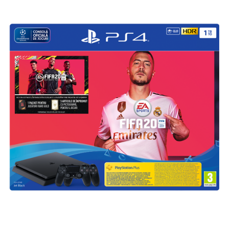 Consola PlayStation4 Slim 1TB plus Extracontroller FIFA20